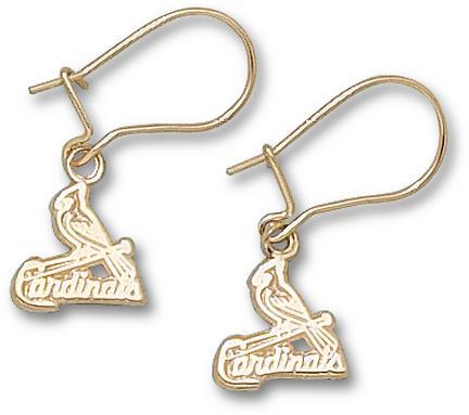 St. Louis Cardinals 3/8in Logo Dangle Earrings - 14KT Gold Jewelry