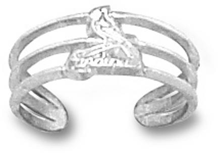 St. Louis Cardinals Logo 38 Toe Ring  Sterling Silver Jewelry