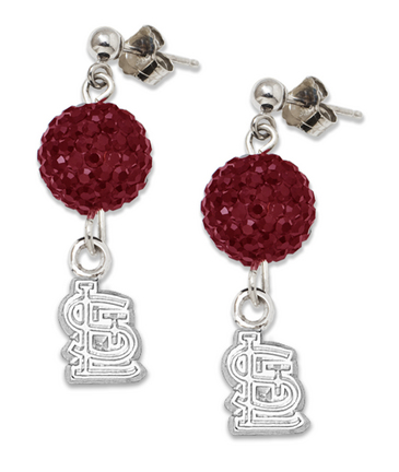 St. Louis Cardinals Ovation Crystal Earrings