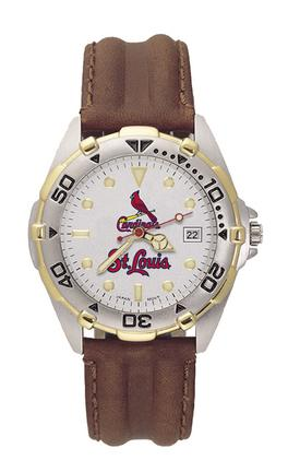 St. Louis Cardinals MLB All Star Watch with Leather Band - Men's from LogoArt