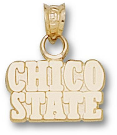"""California State (Chico) Wildcats Block """"Chico State"""" Lapel Pin - Sterling Silver Jewelry"""