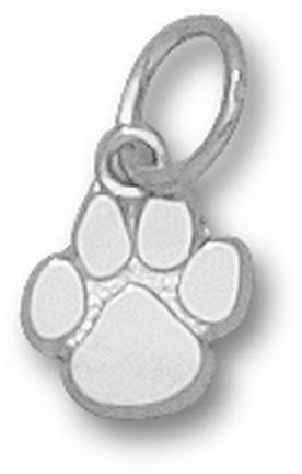 """Clemson Tigers """"Paw"""" 3/8"""" Charm - Sterling Silver Jewelry"""