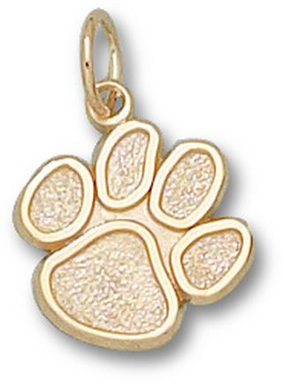 "Clemson Tigers ""Paw"" 1/2"" Lapel Pin - 14KT Gold Jewelry"