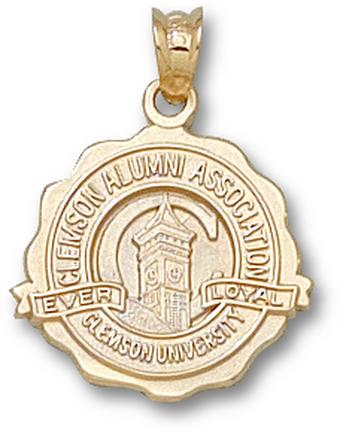 Clemson Tigers Seal Pendant - 14KT Gold Jewelry