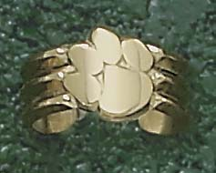 "Clemson Tigers ""Paw"" Toe Ring - 14KT Gold Jewelry"