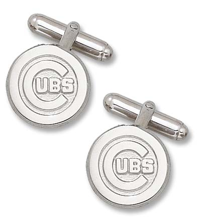 Chicago Cubs 5/8 C Cubs Sterling Silver Cuff Links 1 Pair