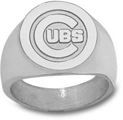 Chicago Cubs C Cubs Logo 58 Mens Ring Size 10 12  Sterling Silver Jewelry