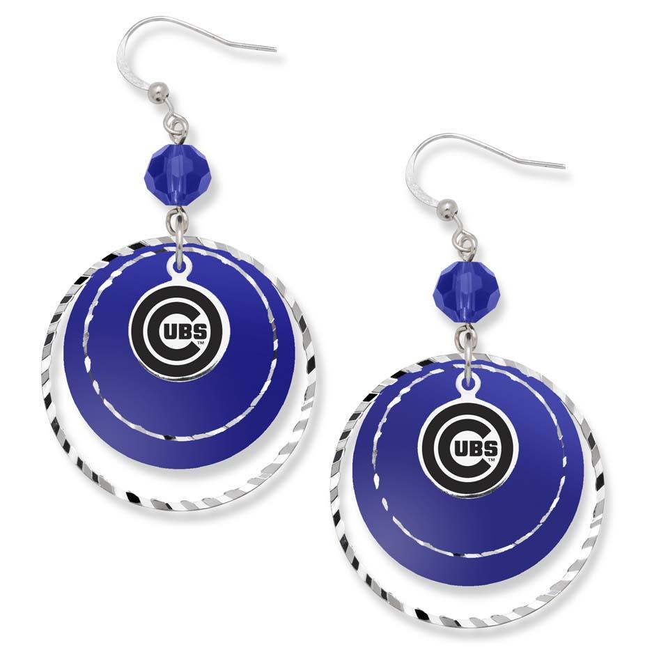 chicago cubs earrings cubs earrings cub earrings