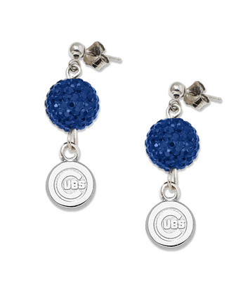 Chicago Cubs Ovation Crystal Earrings