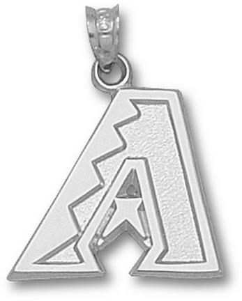 Arizona Diamondbacks 'A' 5/8in Pendant - Sterling Silver Jewelry
