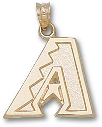 Arizona Diamondbacks 'A' 5/8in Pendant - 14KT Gold Jewelry
