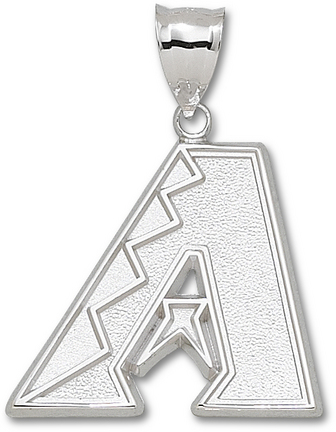 Arizona Diamondbacks Giant 1 1/2in W x 1 1/4in H 'A' Pendant - Sterling Silver Jewelry