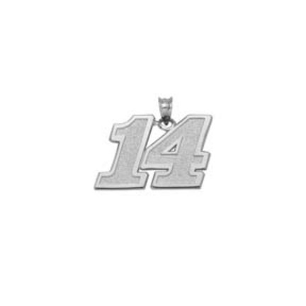 Tony Stewart 1/2 Medium Driver Number 14 Pendant Sterling Silver Jewelry