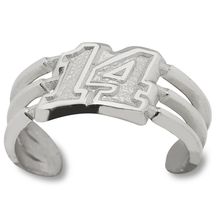 Tony Stewart #14 Toe Ring - Sterling Silver Jewelry