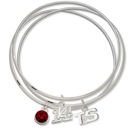 Tony Stewart #14 Triple Bangle Bracelet