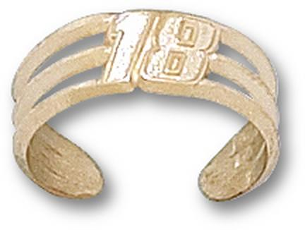 "Kyle Busch Driver Number ""18"" Toe Ring - 14KT Gold Jewelry"