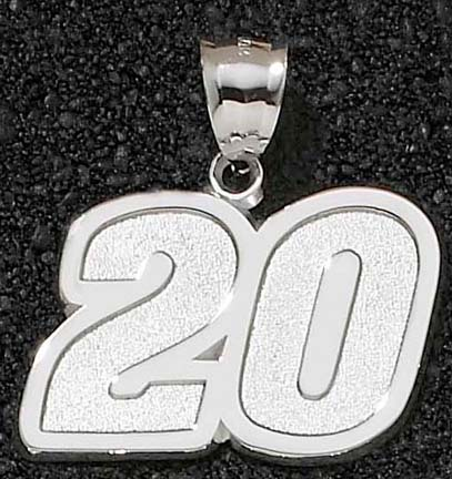 Joey Logano Giant Driver Number 20 1 12 Pendant  14KT Gold Jewelry