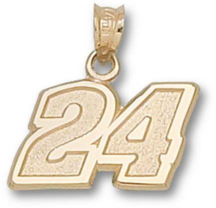 "Jeff Gordon #24 7/16"" Medium Lapel Pin - Sterling Silver Jewelry"
