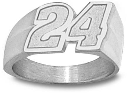 Jeff Gordon Medium Driver Number 24 Mens Ring Size 12 1/2 Sterling Silver Jewelry