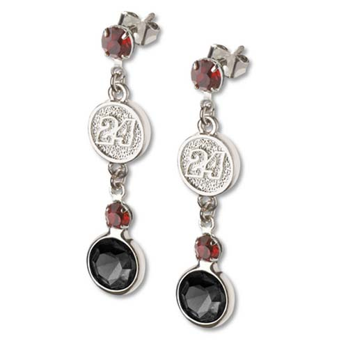 Jeff Gordon #24 Logo Crystal Earrings