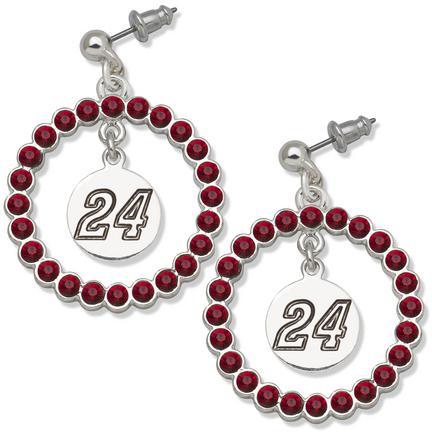 Jeff Gordon #24 Spirit Crystal Logo Wreath Earrings