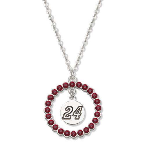 Jeff Gordon #24 Spirit Crystal Logo Wreath Necklace