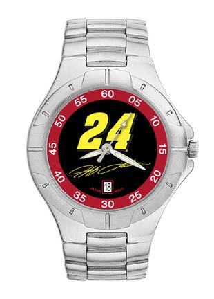 Jeff Gordon #24 Men's Pro II Watch with Stainless Steel Bracelet