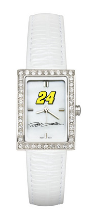 Jeff Gordon #24 Women's Allure Watch with White Leather Strap