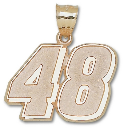 Jimmie Johnson Giant Driver Number 48 1 12 Pendant  14KT Gold Jewelry