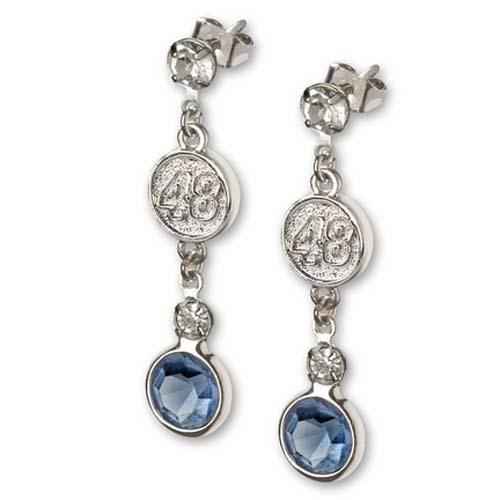 Jimmie Johnson #48 Logo Crystal Earrings