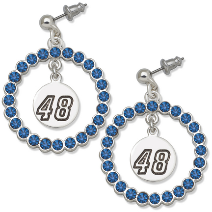 Jimmie Johnson #48 Spirit Crystal Logo Wreath Earrings