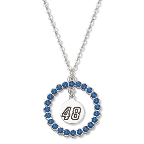 Jimmie Johnson #48 Spirit Crystal Logo Wreath Necklace