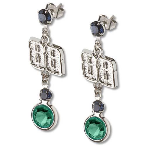 Dale Earnhardt Jr. #88 Logo Crystal Earrings