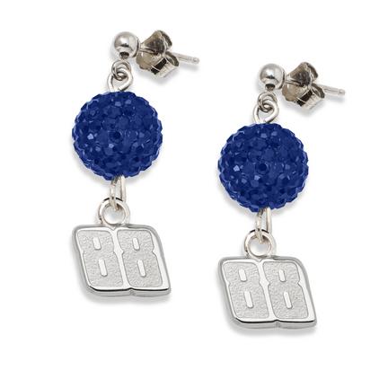 Dale Earnhardt Jr. #88 Ovation Crystal Earrings