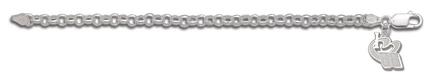 """Dale Earnhardt, Jr. Sterling Silver """"I Heart 88� on Rollo Bracelet - Sterling Silver Jewelry"""