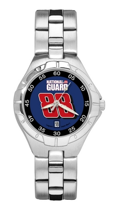 Dale Earnhardt Jr. #88 National Guard Logo Woman's Pro II Watch with Stainless Steel Bracelet