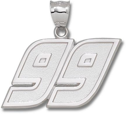 Carl Edwards Giant Driver Number 99 1 38 Pendant  14KT Gold Jewelry