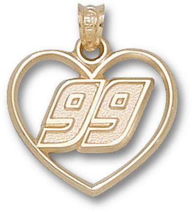 "Carl Edwards ""99 in Heart"" Pendant - 10KT Gold Jewelry"