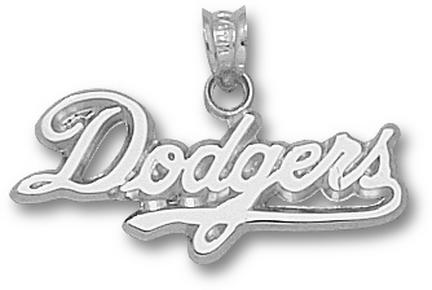 Los Angeles Dodgers 'Dodgers' 7/16in Pendant - Sterling Silver Jewelry