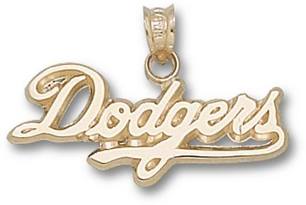 Los Angeles Dodgers 'Dodgers' 7/16in Pendant - 14KT Gold Jewelry