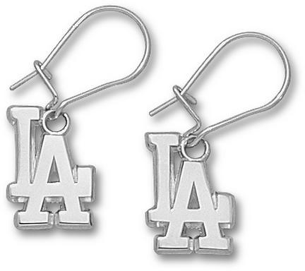 Los Angeles Dodgers 1/2in LA Dangle Earrings - Sterling Silver Jewelry