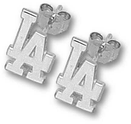 Los Angeles Dodgers 3/8in LA Post Earrings - Sterling Silver Jewelry