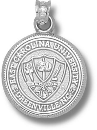 East Carolina Pirates Seal Pendant Sterling Silver Jewelry