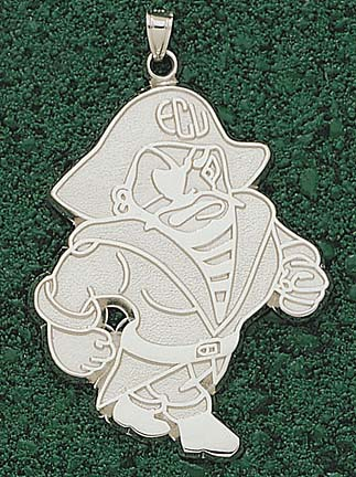 "East Carolina Pirates ""Petey"" Giant Lapel Pin - Sterling Silver Jewelry"