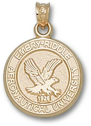 """Embry-Riddle Aeronautical Eagles """"Seal"""" Lapel Pin - 10KT Gold Jewelry"""