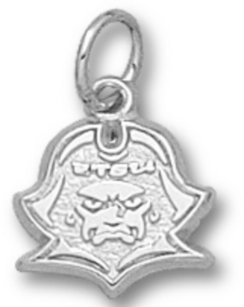 """East Tennessee State 3/8"""""""" """"""""Buccaneer Head"""""""" Charm - Sterling Silver Jewelry"""" LGA-ETS009-SS"""