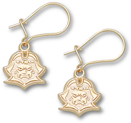 East Tennessee State Buccaneers 3|8 New Buccaneer Head Dangle Earrings – 10KT Gold Jewelry