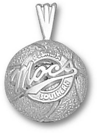 Florida Southern College Moccasins Mocs Basketball Pendant - Sterling Silver..