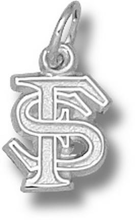 "Image of ""Florida State Seminoles Interlocked """"FS"""" 3/8"""" Charm - Sterling Silver Jewelry"""