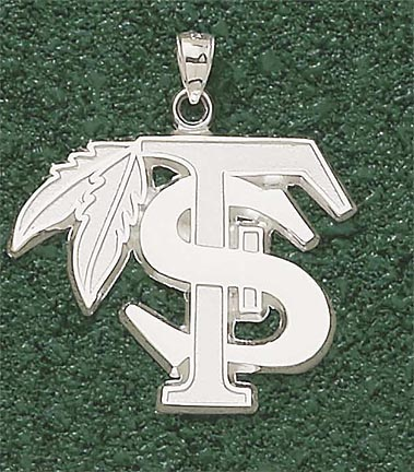 """""""Florida State Seminoles """"""""FS"""""""" with Feather Giant Lapel Pin - 10KT Gold Jewelry"""""""